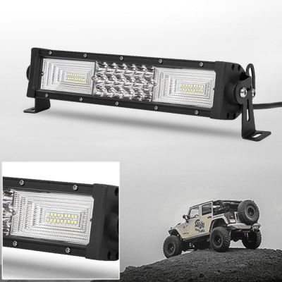7D+ 13 Inch Combo Beam LED Work Light Bar 162W Tri-Row 150 Degree Flood and 30 Degree Spot OSRAM LED Car Light for Off Road Truck ATV SUV 4WD Car - 2017 NEW ARRIVAL