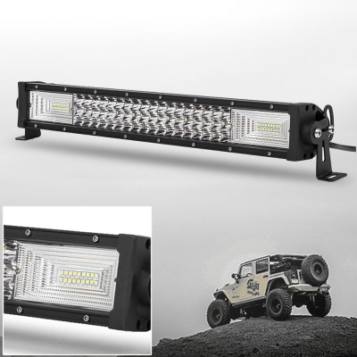 7D+ 22 Inch Combo Beam LED Work Light Bar 270W 3 Rows 150 Degree Flood and 30 Degree Spot OSRAM LED Car Light for Off Road Truck ATV SUV 4WD Car - NEW ARRIVAL