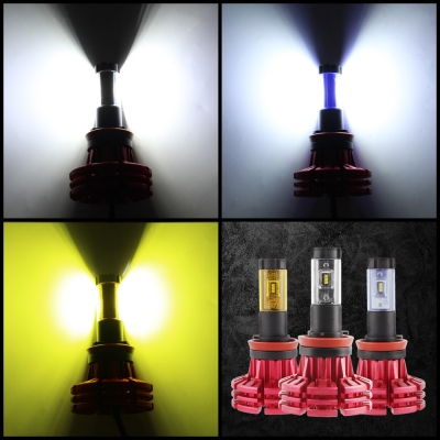 NIGHTEYE X1 Car LED Headlight Bulbs H11 60w 10000LM 6500K LUXEON ZES LED Pack of 2