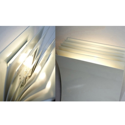 Modern Wall Sconce Pages White 8.2''