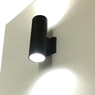 Black Cylinder Wall Washer LED 2 Lights