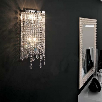 Crystal Wall Sconce Luxury 8''