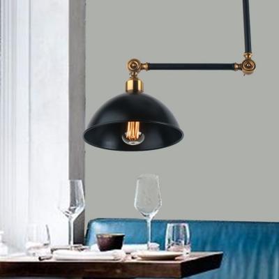 Industrial ceiling light fixture swing arm with dome shade in industrial ceiling light fixture swing arm with dome shade in black mozeypictures Gallery