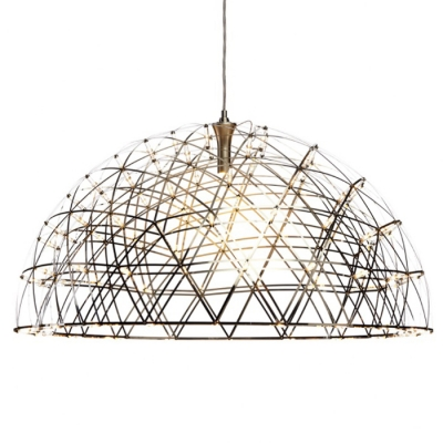 large led suspension pendant light in dome shape