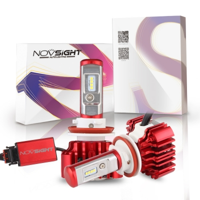Nighteye A372 Car LED  Headlight Bulbs H11 60W 8000LM 6000K CSP LED, Pack of 2