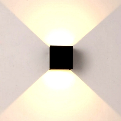 Black Wall Sconce Square Modern 4u0027u0027