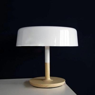 Mushroom Pencil Table Lamp White - Beautifulhalo.com