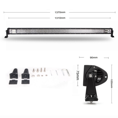 7D+ 42Inch LED Work Light Bar 540W OSRAM Tri-Row Spot Flood Combo for Offroad 4x4 Jeep Truck ATV SUV 4WD Pickup Boat