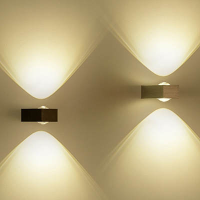 & Outdoor Rectangular Wall Sconce LED Up and Down Lighting ... azcodes.com