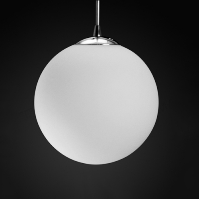 Frosted glass ball pendant light 1 light beautifulhalo frosted glass ball pendant light 1 light aloadofball Gallery
