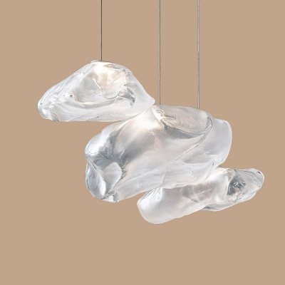 Glass Stone Multi-light Pendant 3 Lights
