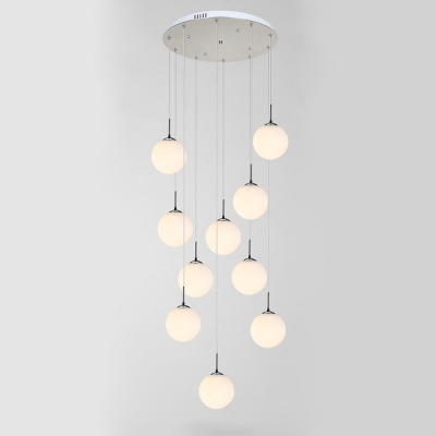 ... Frosted Glass Ball Pendant Light, 10 Lights Amazing Pictures