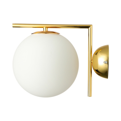 Indoor Globe Wall Light White Golden/Chrome