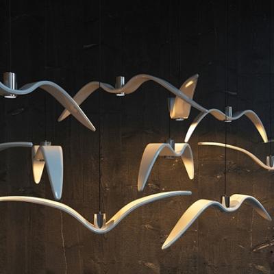 Seagull Resin Pendant Light Minimal White