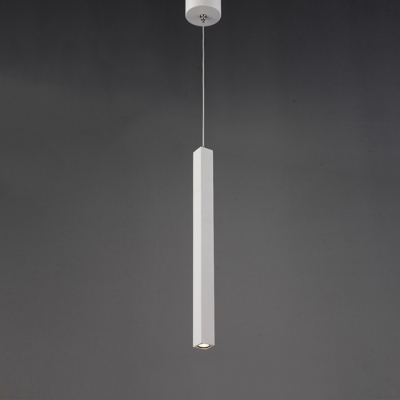 Long Cylinder Pendant Light White 11