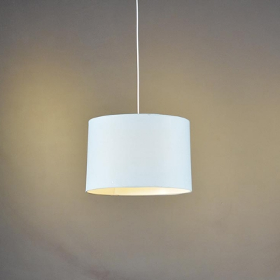 Drum Shade Pendant Light  Blue 18''
