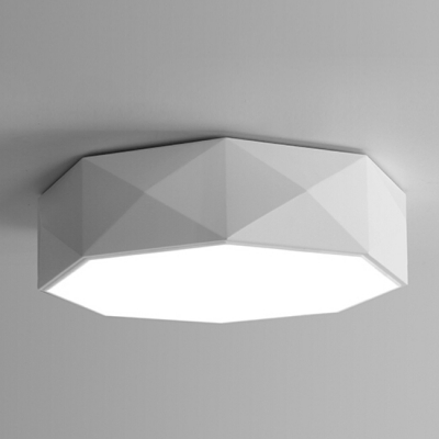 LED Modern Drum White Drum Flush Mount Light Acrylic