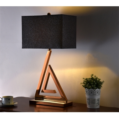 Triangle Steel Base Table Lamp