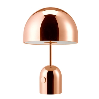 Dome Table Lamp With Chrome Rose Gold Beautifulhalo Com