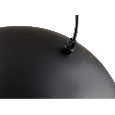Dome Shaped Pendant Light in Black Finish