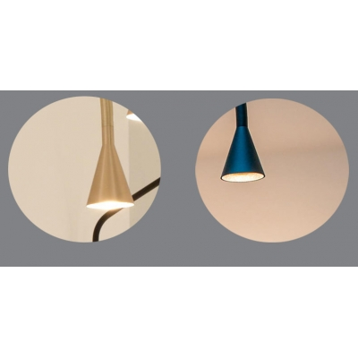 Mini linear Conical Shade Pendant Light Black