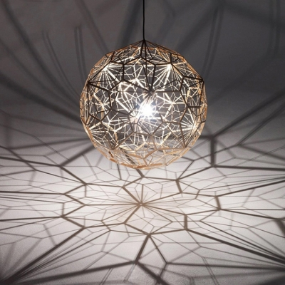 Etched Pendant Light Copper 15.7 Inch