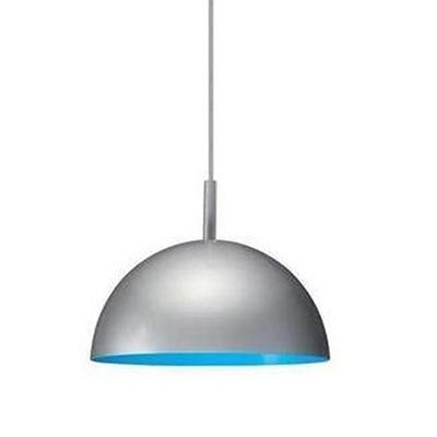 large chrome pendant light uk ceiling fitting mini dome blue orange