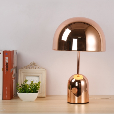 Dome Table Lamp with Chrome/Rose Gold