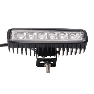 7 Inch LED Work  Light Bar 18W Flood Beam For Off Road 4WD Jeep Truck ATV SUV Pickup Boat, 2 Pcs