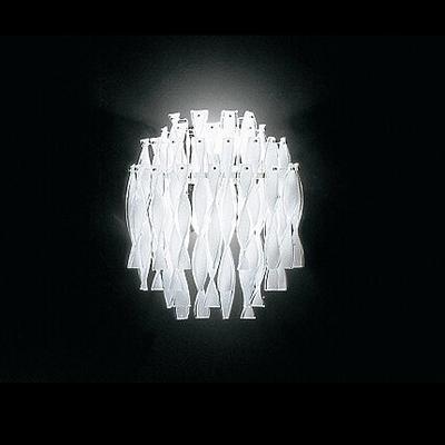 Curl Strip White Pendant Light Chrome Glass 12.6''