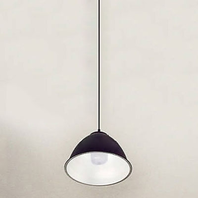 Industrial Dome Single Pendant Light Fixture With Black