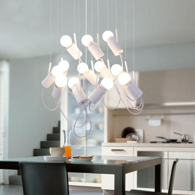 LED Postmodern Aluminium Suspension Light 12 Lights