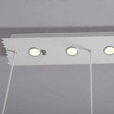 Pentagon Bottom Multi-Light Pendant White Geometric Acrylic