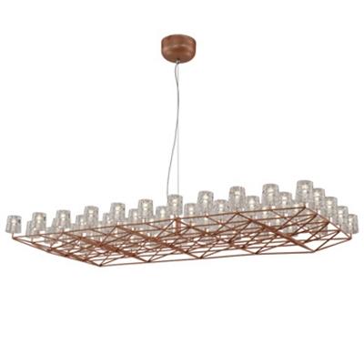 modern chandelier space frame medium