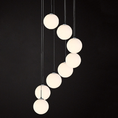 Frosted glass ball pendant light 8 lights beautifulhalo frosted glass ball pendant light 8 lights aloadofball Images