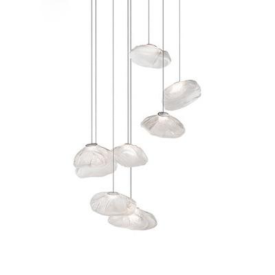 glass stone multi-light pendant 8 lights