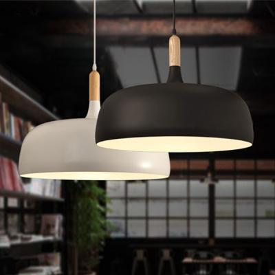Wood Fashion Pendant Light 12.6''