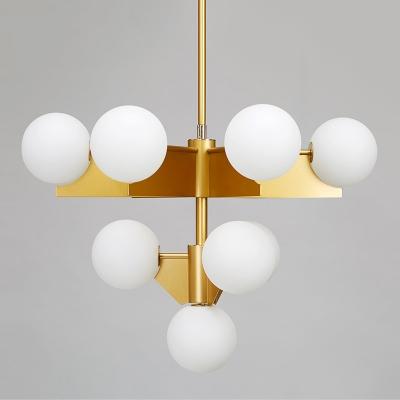 Globe Chandelier 10-Light White
