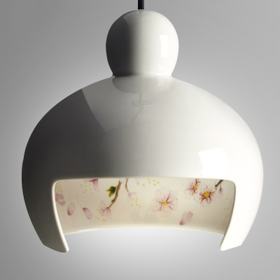 Ceramic Pendant Light Japanese Sakura White
