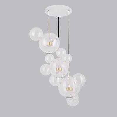 Globe glass multi light pendant light brass stem beautifulhalo globe glass multi light pendant light brass stem aloadofball Image collections