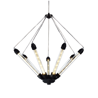 Modern led chandelier in blackgold finish 7 lights up lighting modern led chandelier in blackgold finish 7 lights up lighting aloadofball Image collections