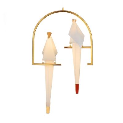Vivid Bird Pendants Light,2 Lt