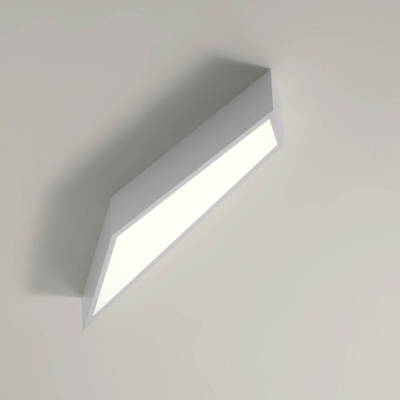Modern Geometric Ceiling Light White 15.7''