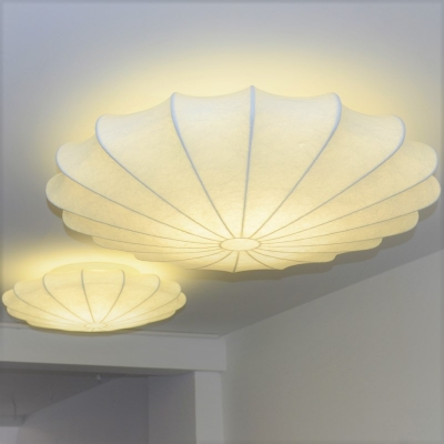 Silk Flower Ceiling Light, 3 Lights 34''