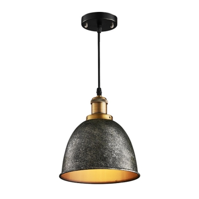 Industrial Pendant with Vintage Black Shade