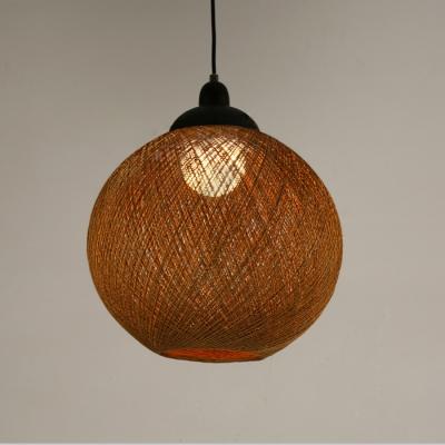 Rattan Ball Pendant Light 16'' Width, 4 Color Options