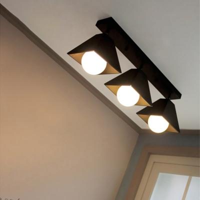 Multi Color LED Ceiling Light Creative Trapezoid Shade 3 Lights