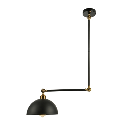 Industrial ceiling light fixture swing arm with dome shade in black industrial ceiling light fixture swing arm with dome shade in black aloadofball Choice Image