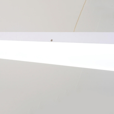 Linear LED Flat Suspension, 24'' Width