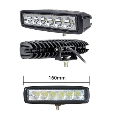 7 Inch LED Work  Light Bar 18W Cree LED Spot Beam  LED For Off Road 4x4 Jeep Truck ATV SUV Pickup, 2 Pcs